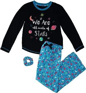 Girls' 2-Piece Pajama Set with Scrunchie