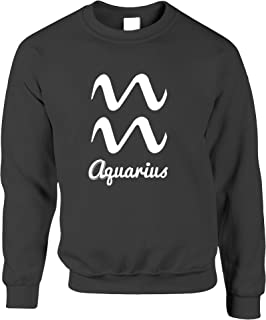 Tim And Ted Aquarius Zodiac Star Sign Birthday Horoscope Nerd Geek Science Planets Astrology Tradition Birth Jumper Sweate...