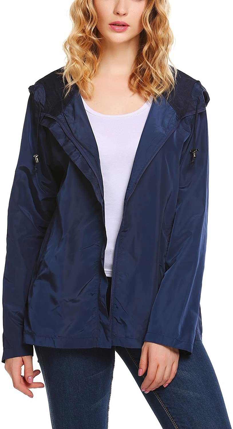 Bifast Women's Casual Lightweight Fully Lined Classic Anorak Active Outdoor Hooded Jacket
