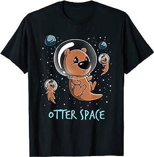 Drôle de galaxie spatiale de loutre T-Shirt