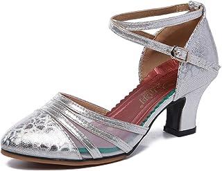 أحذية الرقص ذات الكعب العالي الشبكية والاجتماعية للنساء أحذية رقص عالية الأداء بالصلصة اللاتينية