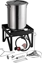 Backyard Pro 30 Qt. STAINLESS STEEL Turkey Deep Fryer Kit Steamer Pot Propane LP