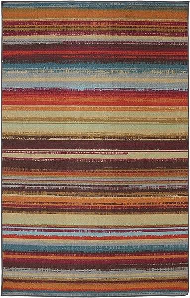 Mohawk Home Avenue Stripes Indoor Outdoor Printed Area Rug 7 6x10 Multicolor