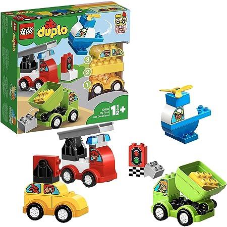 LEGO 10886 Duplo Mes Premiers Véhicules Briques de Construction avec Camion, Hélicoptère et Jouet Voiture pour Bébés de 18 Mois