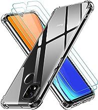 ivoler Coque pour Xiaomi Redmi 9C / Xiaomi Redmi 9C NFC avec Pack de 3 Protection Écran en Verre Trempé, Transparent Étui de Protection en Silicone Antichoc, Mince Souple TPU Bumper Housse