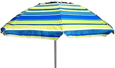 Belardo Kurbelschirm Pontia 270 Natur Knicker und Fiberglas-Streben mit UV-Schutz 50 Plus gebl/ümt