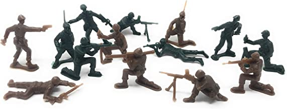 Funiverse 300 Piece Bulk Plastic Soldier Assortment (Green and Tan) - Plastic Army Men, Marines, or Navy Seals