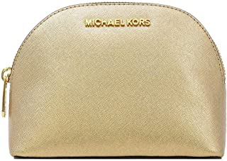 Women's Jet Set Travel Large Leather Pouch Cosmetic Bag
