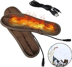 /Électrique Semelles,Chauffantes avec T/él/écommande,Chauffe-Pieds D/'Hiver,SemellesChauffantes /éLectriques,Hiver Hommes Femmes Chaussures Chauffantes Semelles USB De ChargeTaille Ajustable Ski 41-47 L
