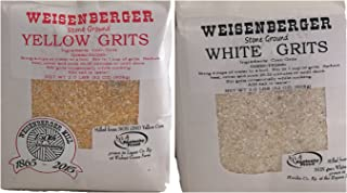 Weisenberger Mills Southern 1-2lb Yellow Grits and 1-2lb White Grits Non Gmo - A Ky Proud Product 2lb ea Pkg 2 Packs