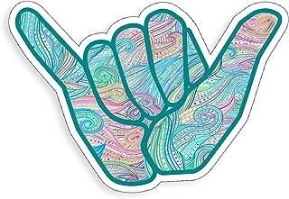 Hang Loose Shaka Sticker Sign Symbol Beach Surf Ocean Waves Cup Cooler Laptop Vinyl Decal Graphic