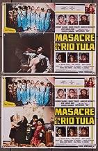 Masacre En El Rio Tula (1985) Original Mexican Set of Eight Lobby Cards Very Good Plus Condition
