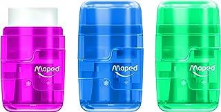 Maped Sluit doorschijnende Duo gum en puntenslijper (doos van 24 inch verschillende kleuren)