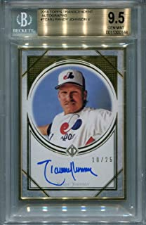 Randy Johnson Montreal Expos BGS Certified Authentic Autograph - 2018 Topps Transcendent (Autographed Baseball Cards)