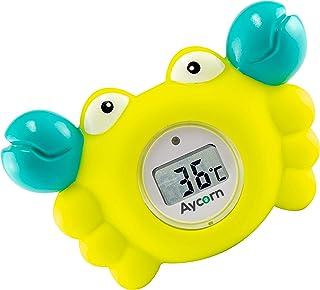 Aycorn Thermomètre Digital pour Bébé | Pour le bain et la chambre | Analyses rapides..