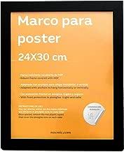 Nacnic nero per foto, poster, diplomi con dimensioni 24x30 cm, dimensioni cornice 28X34 cm, nero