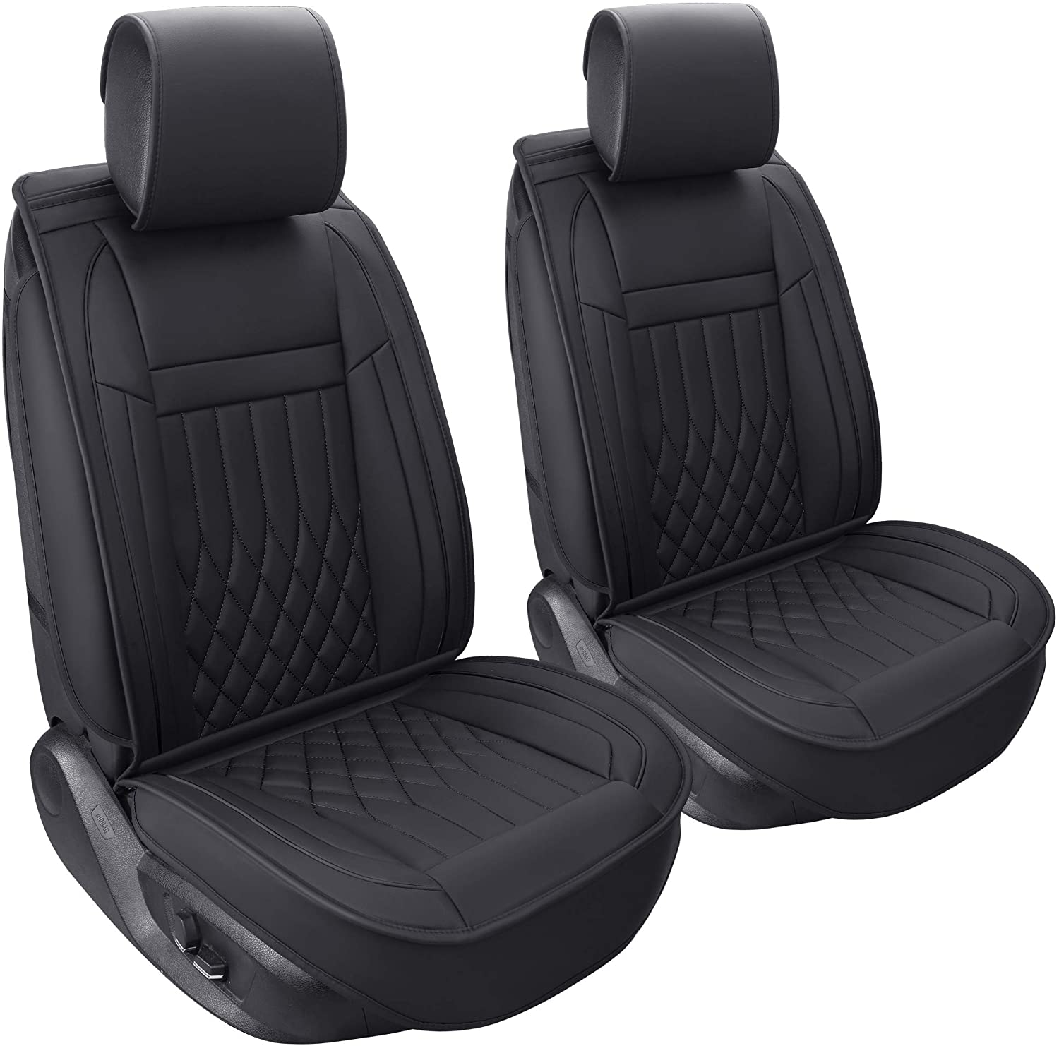 Aierxuan 2pcs Car Seat Award Ranking TOP19 Covers Set Front Leather with Waterproof
