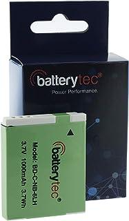 Batterytec Batería para Canon NB-6LH Canon SX520 HS SX610 HS SX710 HS SX700 HS SX600 HS S120 S90 S95 SX500 IS SX510 HS SX510HS SD1300 2 Pack. [3.7V 1000mAh Li-Ion 12 Meses de garantía]