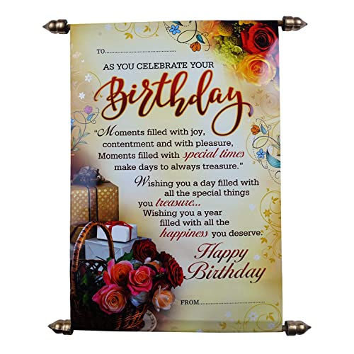 Saugat Traders Happy Birthday Scroll Card for Best Friend-Sister-Wife-Girlfriend