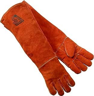Steiner 21923-L Welding Gloves, Burnt orange Y-Series 23-Inch Length Shoulder Split Cowhide, Foam Lined, Large