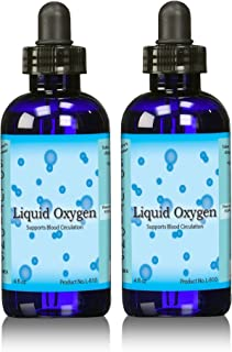 Liquid Oxygen Supplement-Stabilized Oxygen Drops, Two 4 Ounce Bottles