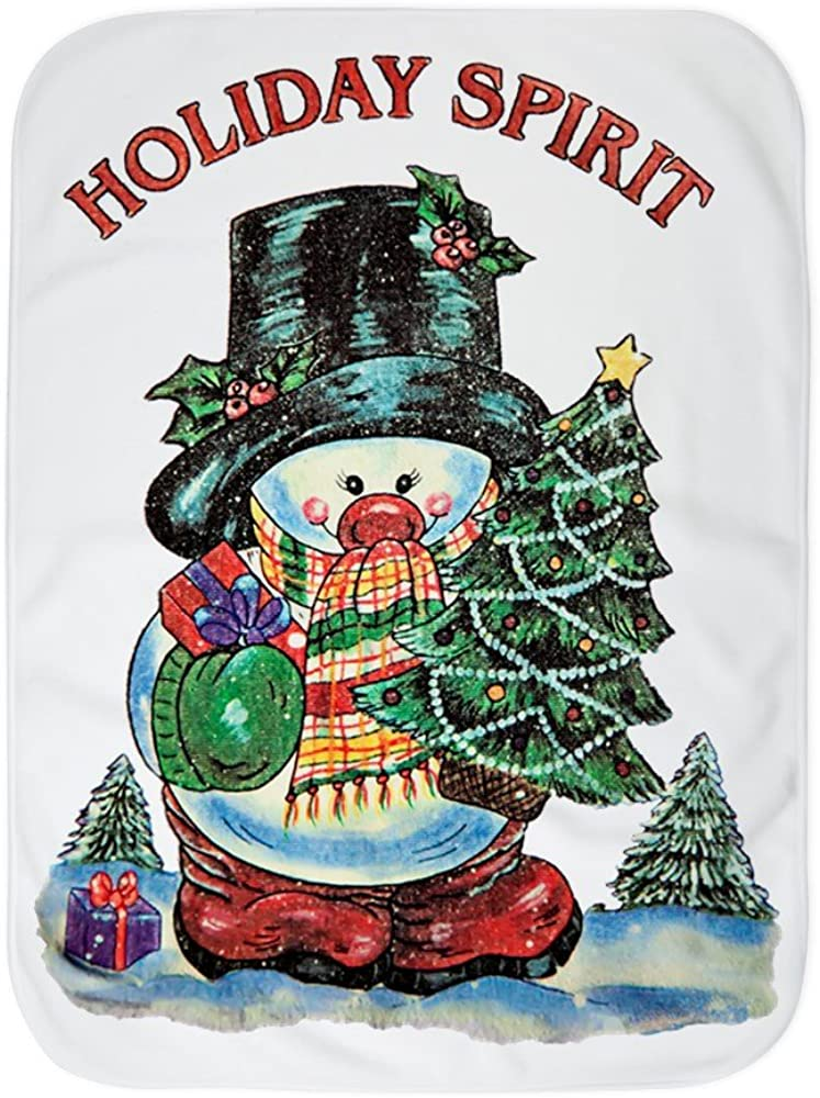 Royal Lion Baby Blanket Max 76% OFF White Snowman Tree Spirit with New York Mall Christmas