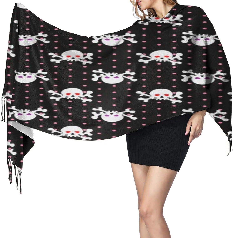 Cashmere fringed scarf skulls shining eye winter extra large scarf