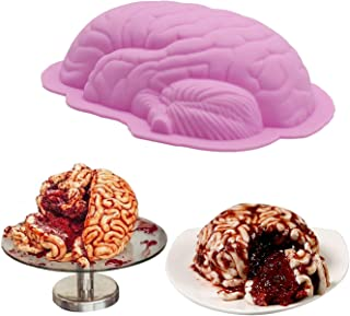 AnFun Silicone mold for brain 1 Pack Large Human Zombie Brain Mold for Cake Candy Christmas cake mould Used to make ice cu...