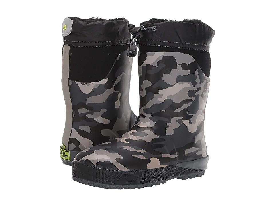 Western Chief Kids Ridge Camo Neoprene Boot (Toddler/Little Kid) (Black) Boys Shoes