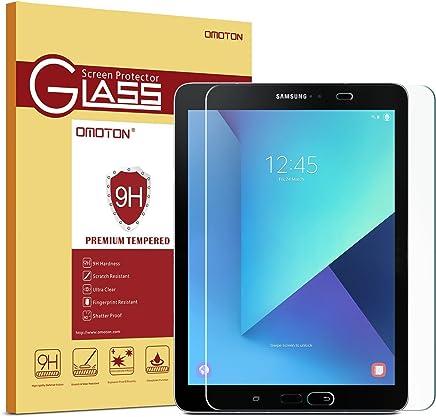 """OMOTON Samsung Galaxy Tab S2 9.7"""" SM-T813/S3 SM-T820 Protection d'écran Verre Trempé (9H,sans Bulles)"""