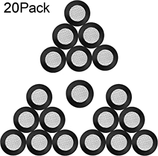 20 Pieces Seal O Ring Hose Gasket Filter Net Shower Head Stainless Steel Gasket Rubber Washer with 40 Mesh for 1/2 Inch Shower Hose Heads