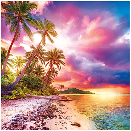 Paintings Pictures Arts Craft for Home Wall Decor DIY 5D Diamond Painting Beach Kits for Adults Full Drill Sunset 5D Painting Dots Kits