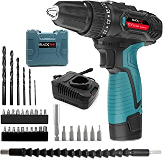 Sponsored Ad – Blackpine Cordless Drills 12V Lithium-Battery 17+1 Torque Setting with 2 Speed 10mm Metal Chuck 12pcs Acces...