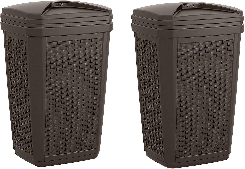 Suncast 30 Gallon Resin Wicker Max 73% OFF Decorative Outdoor Cheap SALE Start Trash Hideaway