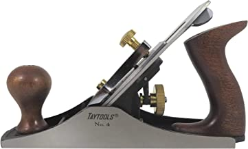 Taytools 469614 Smoothing Bench Hand Plane #4, 9-3/4 Inch Sole, Ductile Cast Body, Lapped..