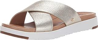 Women's Kari Metallic Flat Sandal, GOLD, 9 M US