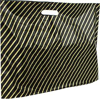 760c030aed 100 Grande Taille Noir et Or en plastique Sacs en polyéthylène à rayures –  Taille 55