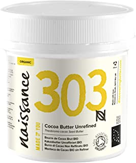 Naissance Unrefined Cocoa Butter 100g Certified Organic 100% Pure