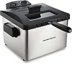 Hamilton Beach Professional Grade Electric Deep Fryer, 19 Cups / 4.5 Liters Oil Capacity, XL Frying Basket, Lid with View ...