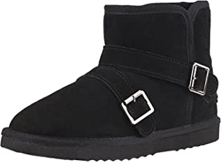 Shenduo - Boots Homme Courts Imperméables, Bottes de Neige Doublure Chaude D5645