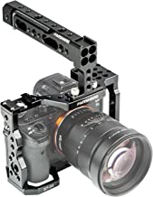 FANSHANG Aluminum Camera Cage Video Film Movie Making Kit Rig Stabilizer + Top Handle Grip for Sony A7RIII A7III A7II A7RII A7SII A7 A9 DSLR with Cold Shoe Mount