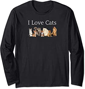 I Love Cats Long sleeve