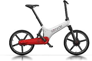 Gocycle GS - Bicicleta plegable, color blanco, rojo y blanco