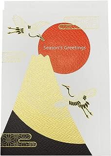 Frontia Japan Silk Printed Greeting Card Season's Greeting Tokyo Kyoto Japanese