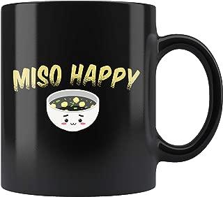 Miso Happy Mug 11oz in Black - Noodle Lover Gifts