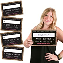 Big Dot of Happiness Girls Night Out Party Mug Shots - Bachelorette Party Photo Booth Props Party Mugshot Signs - 20 Count