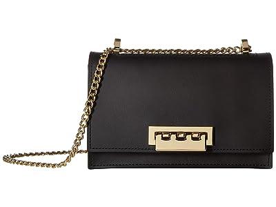 ZAC Zac Posen Earthette Small Chain Shoulder Solid (Black) Shoulder Handbags