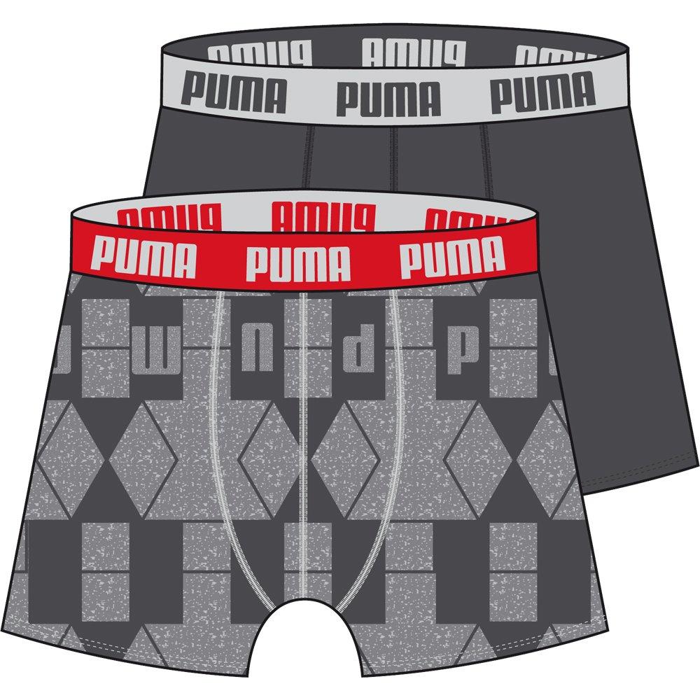 Puma 621015001 Hombre Nordic Diamond Boxer tipo bóxer (2 unidades) Gris gris Talla:medium: Amazon.es: Deportes y aire libre