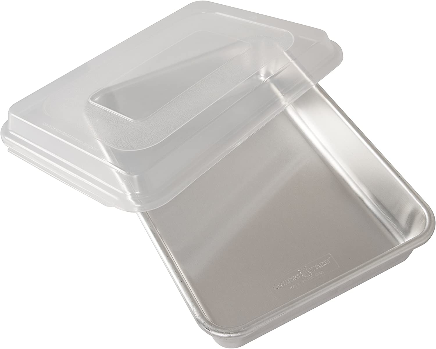 Nordic Ware Natural Aluminum Commercial Pan Don't miss the campaign Free shipping on posting reviews Lid with Recta Cake