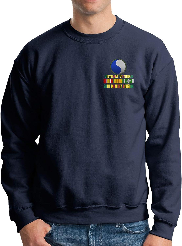 Max Genuine 51% OFF Vietnam Veteran 29th Infantry Division Fle Men's Crewneck Cotton